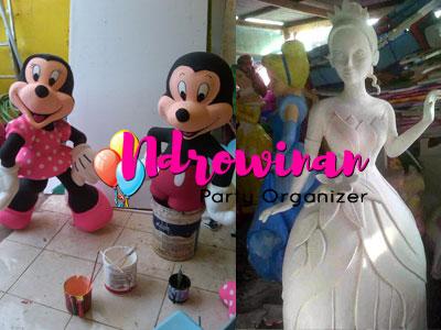 Patung styrofoam dekorasi