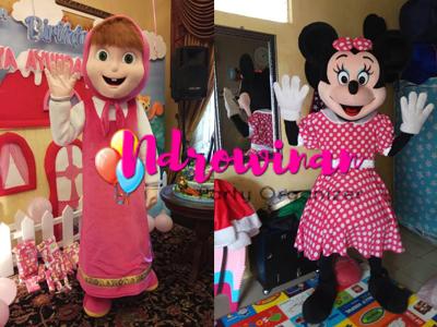 badut ulang tahun dora minnie mouse