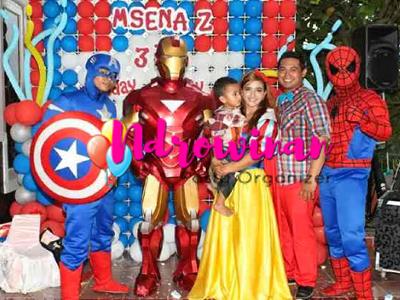 badut ulang tahun superhero