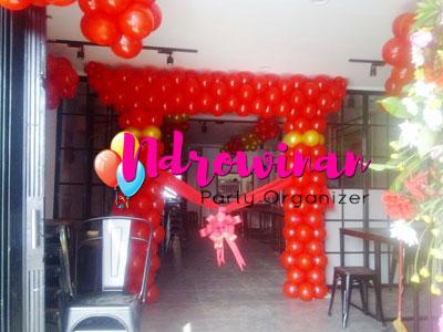 dekorasi balon peresmian kantor