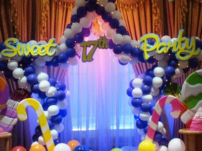 dekorasi balon sweet seventeen