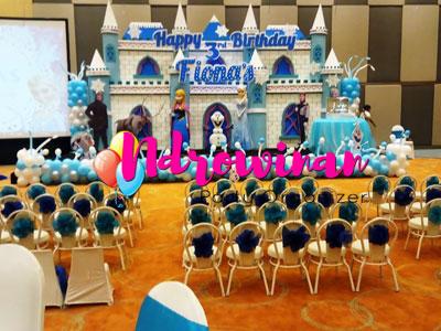 dekorasi strofoam ulang tahun tema froozen