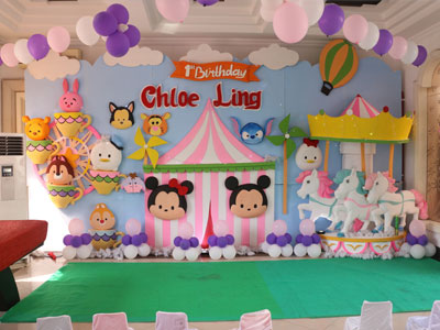 dekorasi styrofoam backdrop ulang tahun