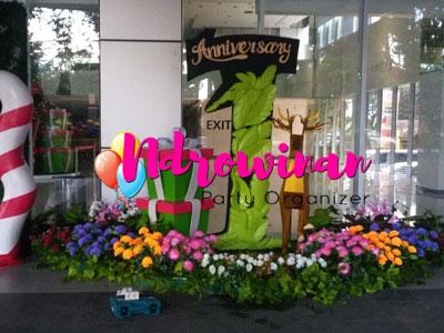 dekorasi styrofoam di mall bogor