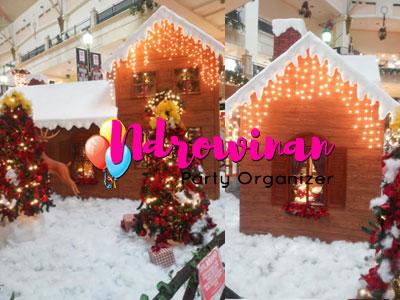 dekorasi styrofoam natal di mall