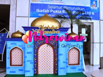 dekorasi styrofoam ramadhan di kantor acc