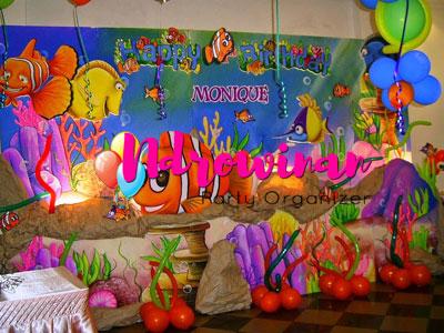 dekorasi styrofoam ulang tahun tema laut