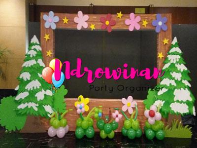 dekorasi styrofoam photobooth