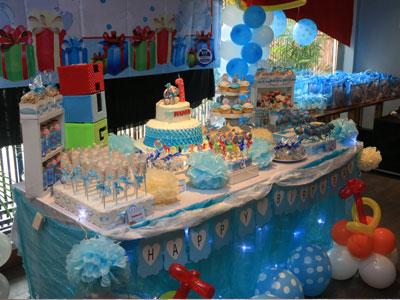 dessert table candy corner ulang tahun anak