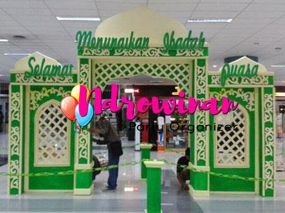 gapura styrofoan ramadhan mall