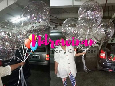 jual balon dekorasi trasparan