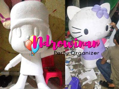 miniatur patung styrofoam