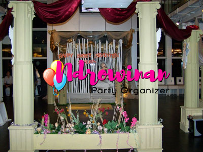 properti styrofoam dekorasi sweet seventeen