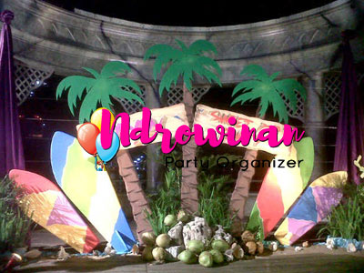 properti styrofoam dekorasi tema pantai