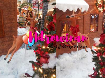 rusa styrofoam dekorasi natal