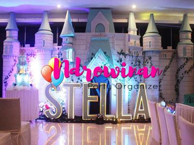 styrofoam dekorasi backdrop castle