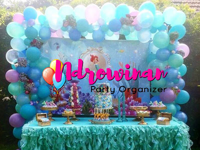 Dessert Table Ultah Anak Tema Mermaid