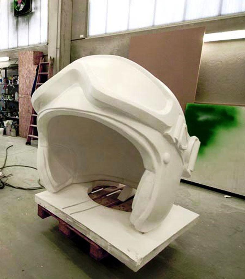 patung helm gabus styrofoam