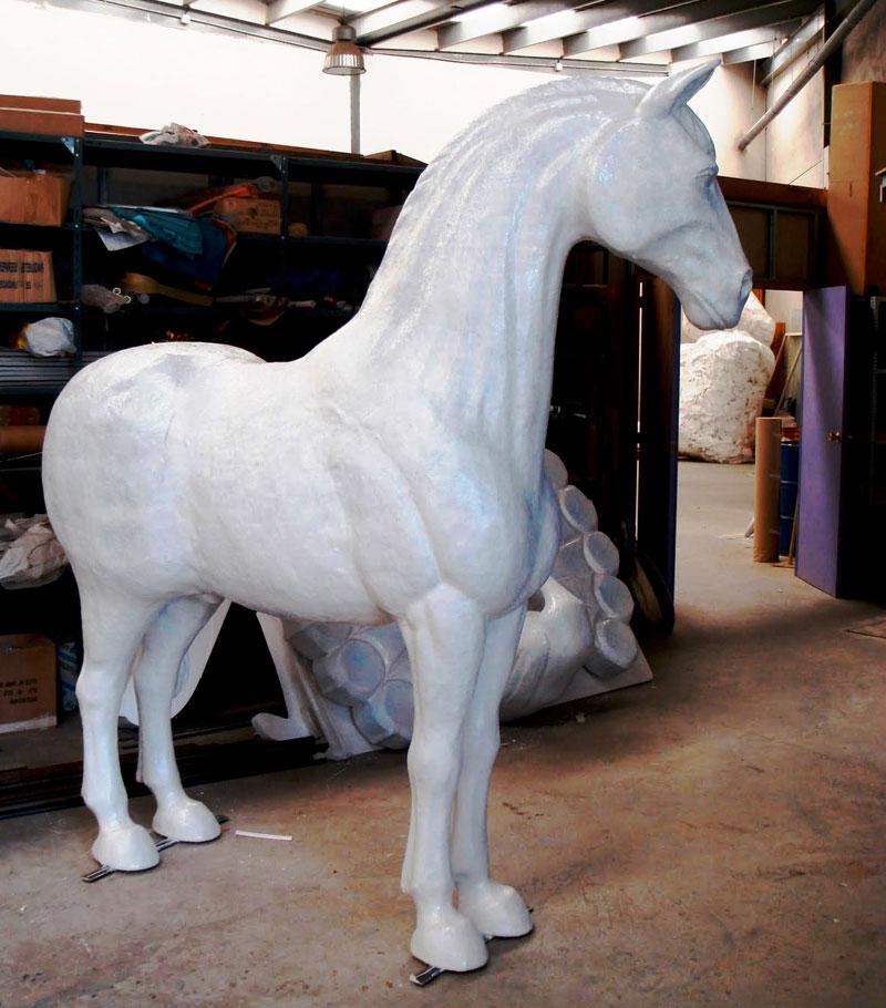 patung kuda gabus styrofoam