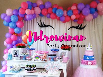 sweet corner dessert table ulang tahun anak perempuan