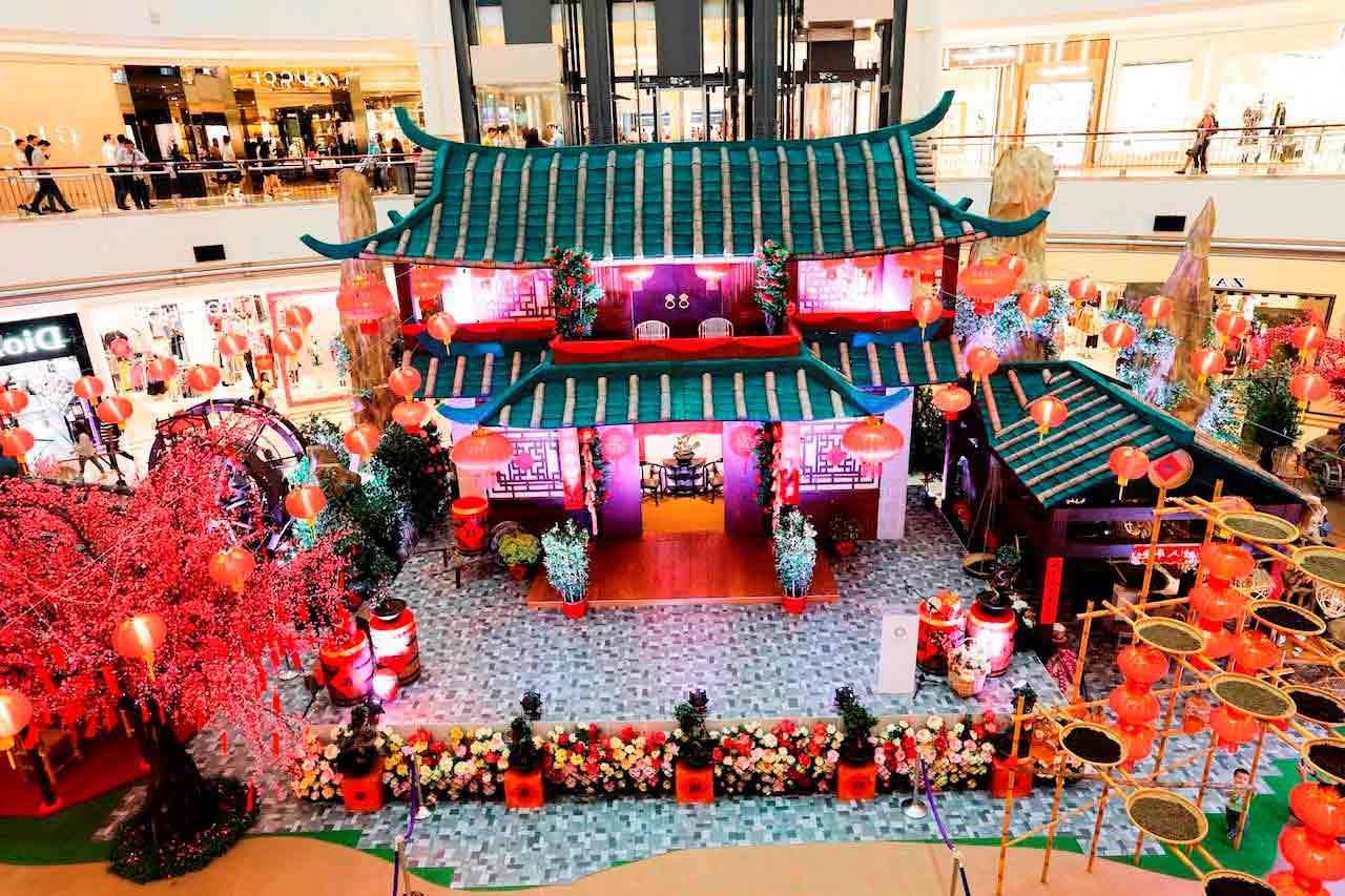 Dekorasi Mall Imlek gong xi fa Chai