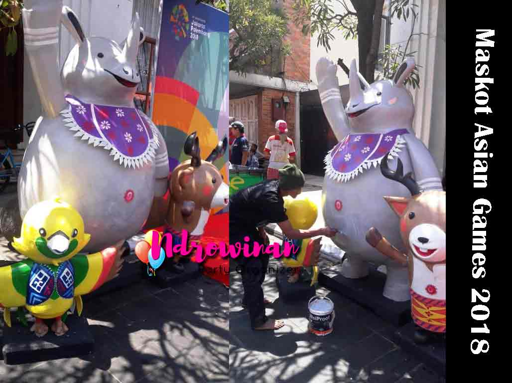 patung asian games 2018 bahan styrofoam
