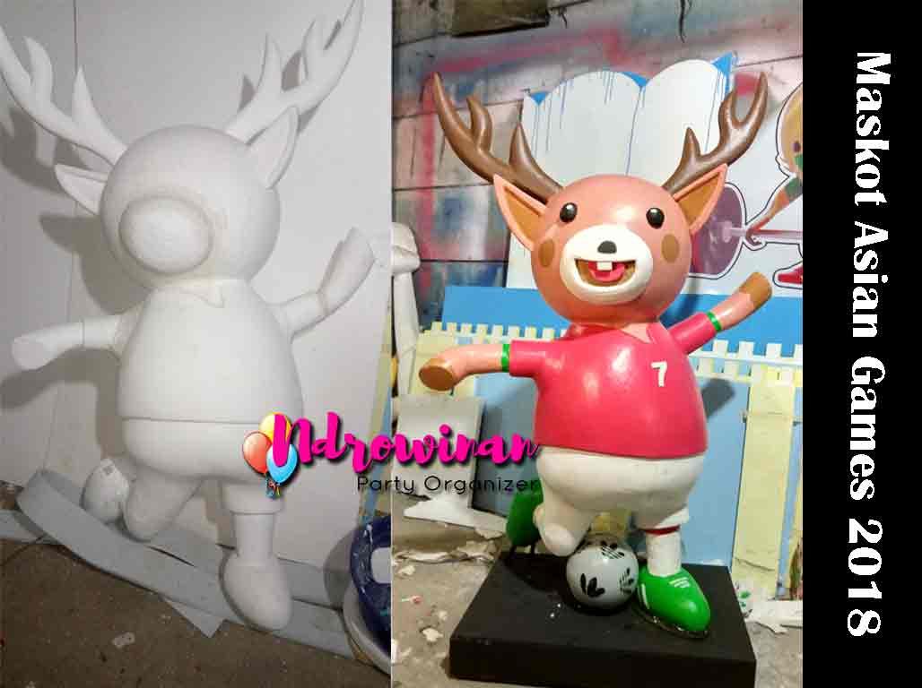 patung maskot asian games styrofoam atung