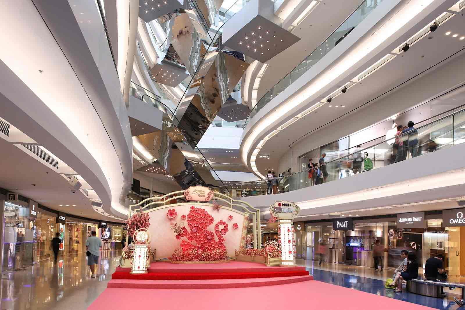 foto dekorasi imlek di mall atau kantor