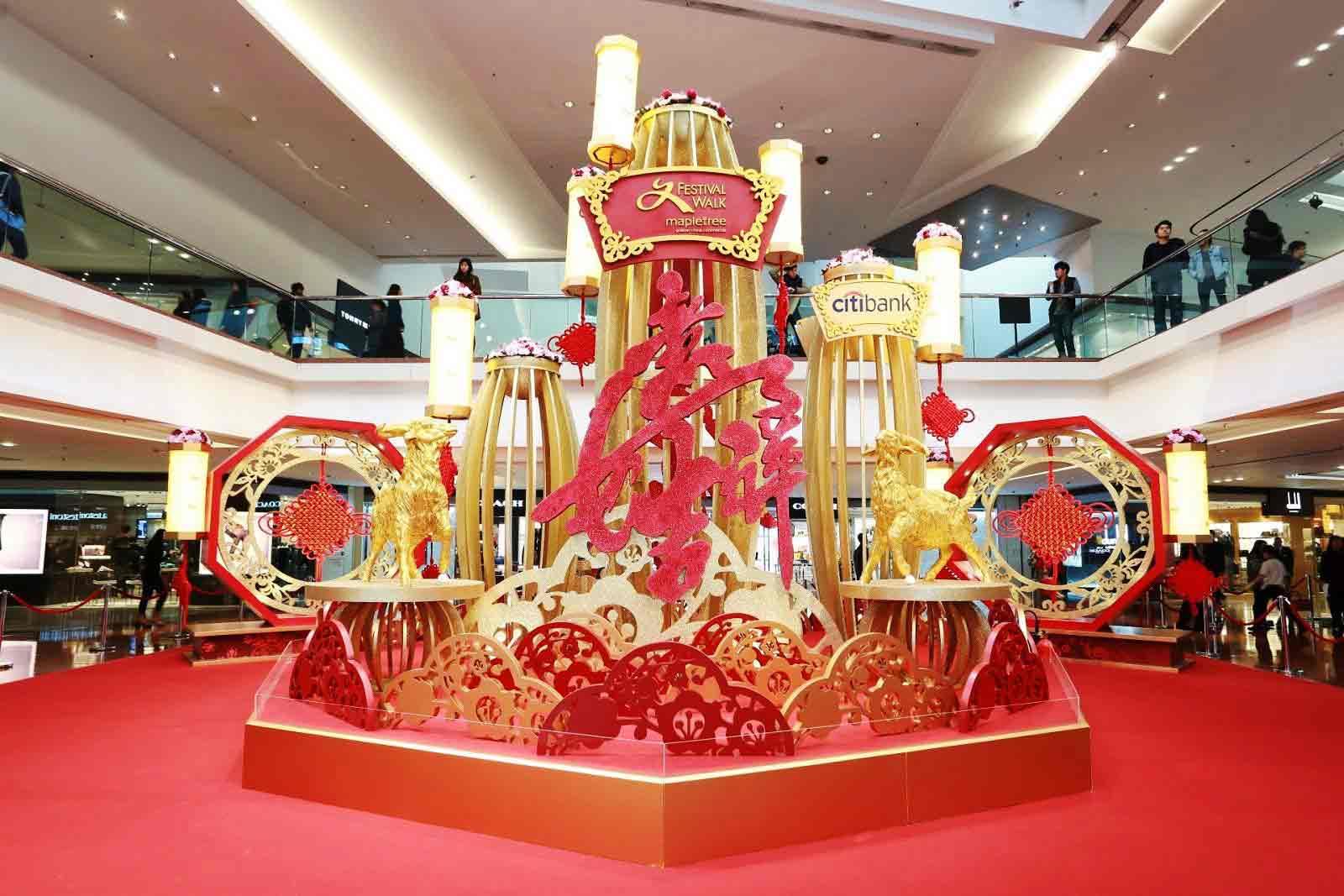 model dekorasi imlek di mall