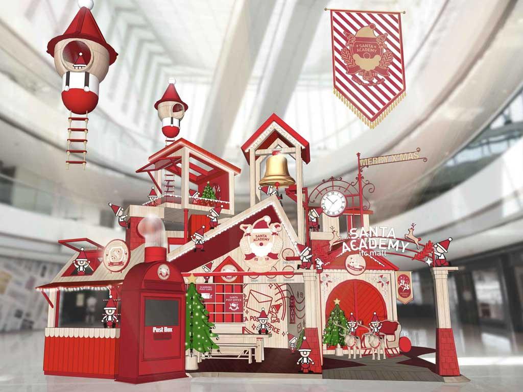 Desain dekorasi natal di mall