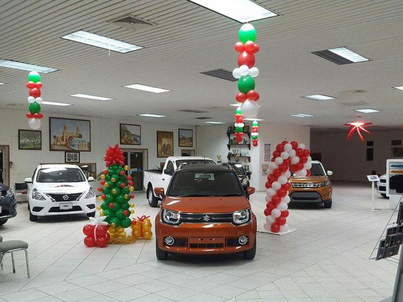 dekorasi balon dealer showroom suzuki