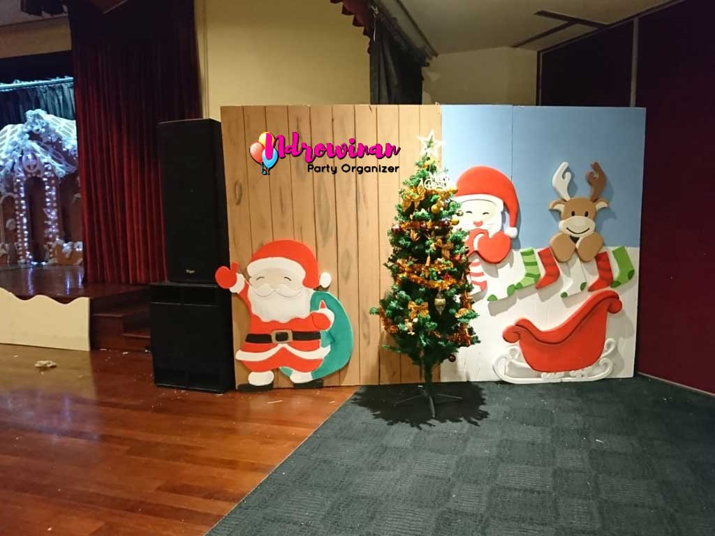 photobooth dekorasi natal di mall